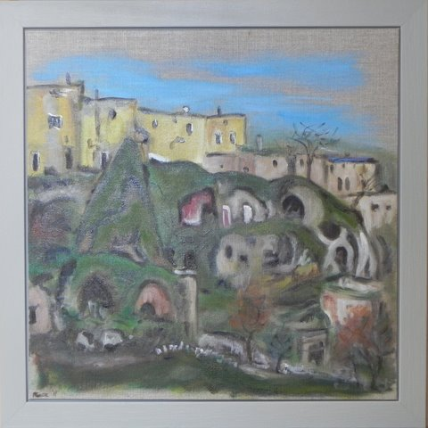 Feza Erkeller paintings - Cappadocia, Watch Dog