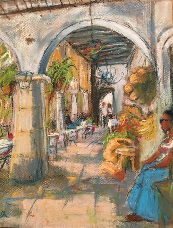 Feza Erkeller paintings Colonial Town