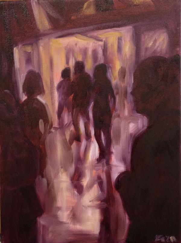 Feza Erkeller paintings - People, A thousand year old door way