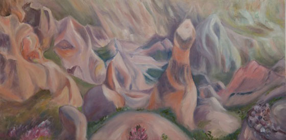 Feza Erkeller paintings - Cappadocia, Nature Repeats Itself